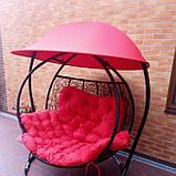 Качели кокон двухместная красная с крышей, фото 2