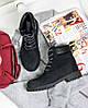 """Женские зимние ботинки Timberland """"Black"""" (в стиле Тимберленд) , фото 7"""