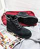 """Женские зимние ботинки Timberland """"Black"""" (в стиле Тимберленд) , фото 2"""