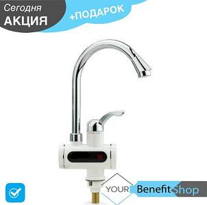 Проточный водонагреватель с экраном | кран мгновенного нагрева воды | бойлер нагреватель