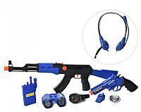 Набор полицейского (автомат, пистолет, маска, рация, бинокль, трещотка) - отличный подарок для мальчика