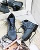 """Женские зимние ботинки Timberland """"Blue"""" (в стиле Тимберленд) , фото 6"""