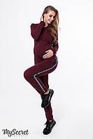 Теплый костюм для беременных и кормящих LEE, марсала, фото 1