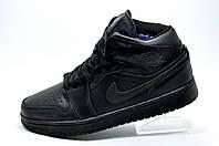 Зимние Кроссовки в стиле Nike Air Jordan 1 Retro, (Аир Джордан)