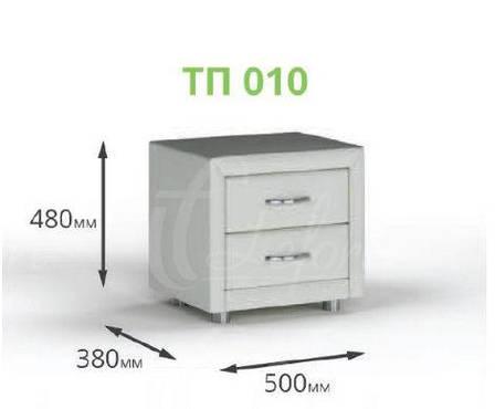 Прикроватная тумбочка ТП 010 (экокожа / ткань), фото 2