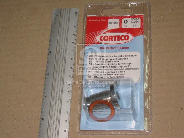Пробка слива масла FIAT JTD, Corteco 220126S