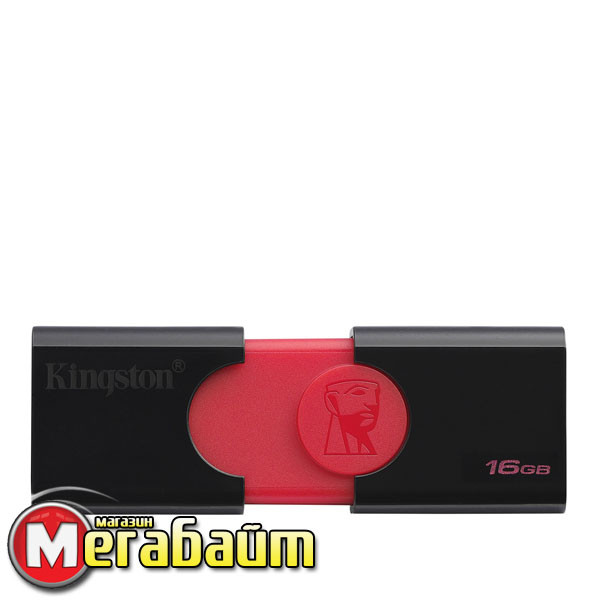 Flash drive USB3.1 16GB Kingston DataTraveler 106 Black/Red (DT106/16GB)
