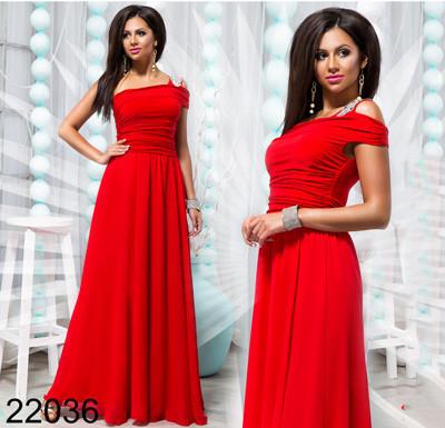 f8f1857781ebb7c Красное вечернее платье макси на одно плечо 822036 - СТИЛЬНАЯ ДЕВУШКА интернет  магазин модной женской одежды