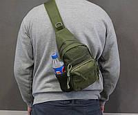 Тактическая, штурмовая, военная, универсальная, городская сумка на 5-6 литров с системой M.O.L.L.E  s4 (олива), фото 1