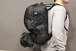 Тактичний Штурмової Військовий Рюкзак з підсумкими на 50-60 літрів Black (1004 чорний), фото 4