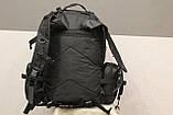 Тактичний Штурмової Військовий Рюкзак з підсумкими на 50-60 літрів Black (1004 чорний), фото 9