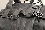 Тактичний Штурмової Військовий Рюкзак з підсумкими на 50-60 літрів Black (1004 чорний), фото 10