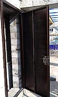 Двери металлические входные с порошковой покраской и замком бордер без отделки