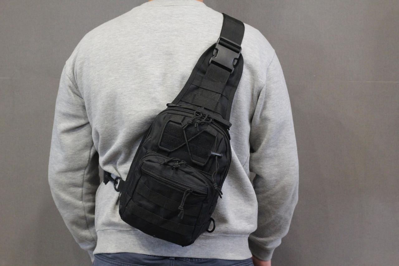 Тактическая - штурмовая универсальная сумка на 6-7 литров с системой M.O.L.L.E Black (095 черная)