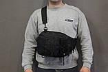 Тактическая - штурмовая универсальная сумка на 6-7 литров с системой M.O.L.L.E Black (095 черная), фото 4