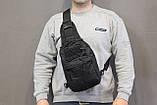 Тактическая - штурмовая универсальная сумка на 6-7 литров с системой M.O.L.L.E Black (095 черная), фото 6