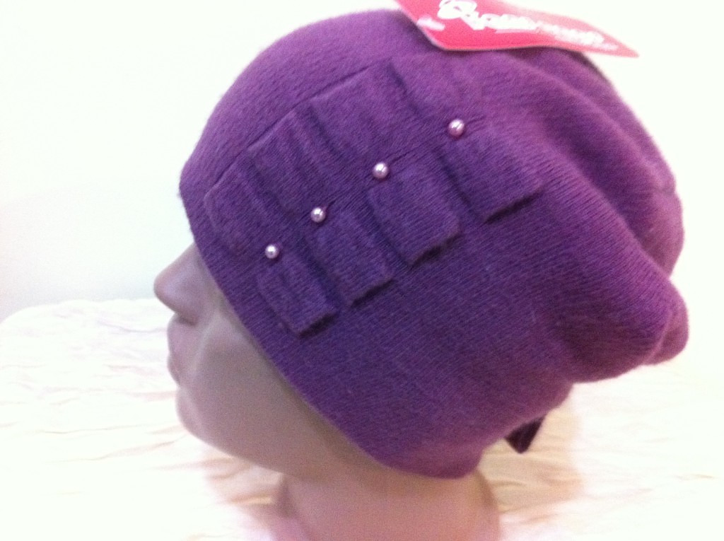 шапочка  молодежная украшенная бантами