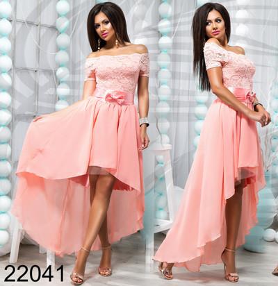 4104e2903d5 Модное вечернее платье короткое спереди длинное сзади 822041