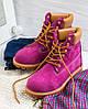 "Женские зимние ботинки Timberland ""Purple"" (в стиле Тимберленд) , фото 2"