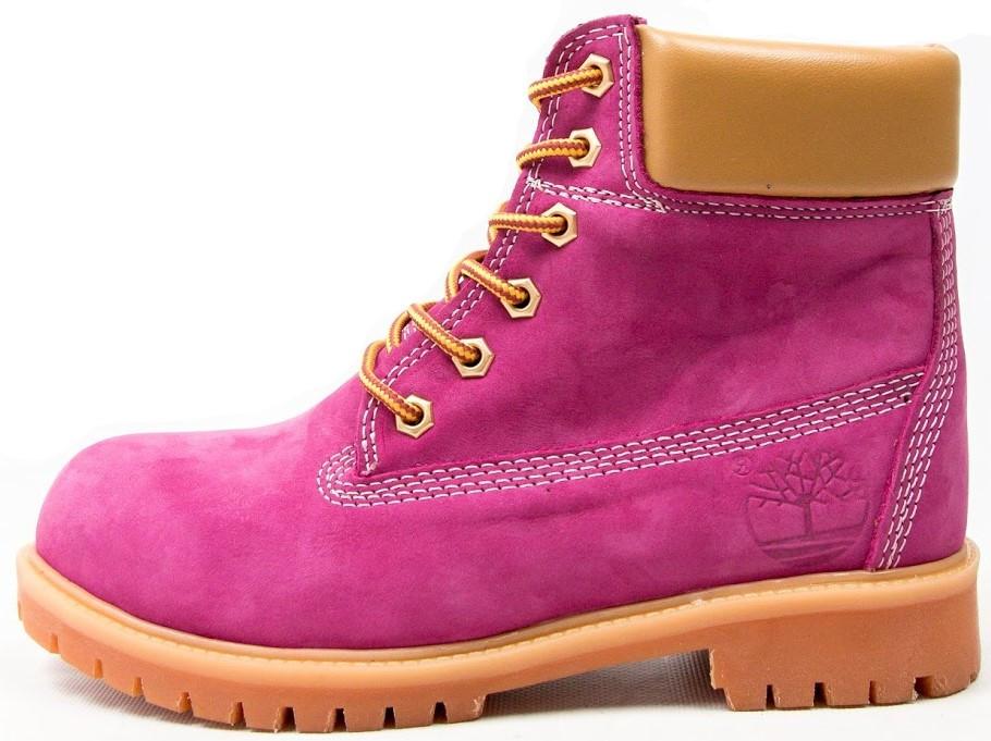"""Женские зимние ботинки Timberland """"Purple"""" (в стиле Тимберленд)"""