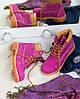 "Женские зимние ботинки Timberland ""Purple"" (в стиле Тимберленд) , фото 4"