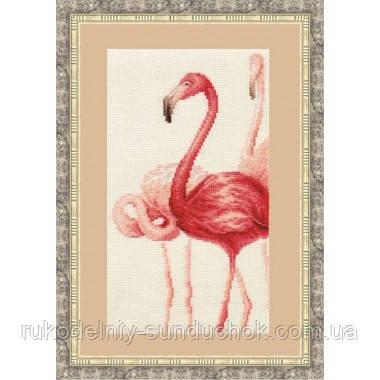 """Набор для вышивания крестом ТМ Золотое Руно """"Фламинго. Набор №3 """" Ф-004"""