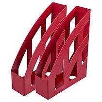 Лоток вертикальний Квп темно-червоний ЛВ-01