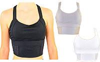 Топ для фитнеса и йоги 9010, 3 цвета: лайкра, размер M-L (40-48)