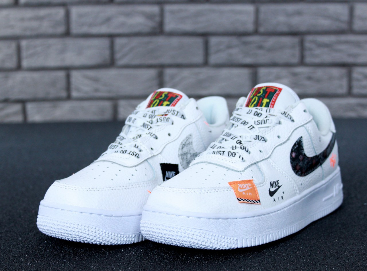 06cf3e71 Мужские Кроссовки Nike Air Force 1 Low Just Do It Pack White Найк аир форс (