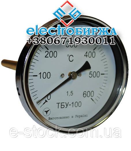 Биметаллический термометр ТБУ-100 (осевой)