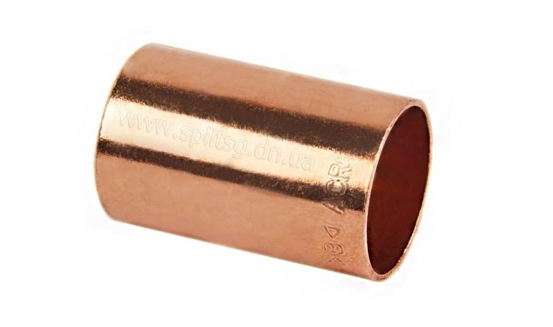 Муфта медная для медной трубы 1.1/8'' (28,58 мм)