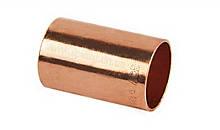 """Муфта мідна для мідної труби 1.3/8"""" (34,93 мм)"""