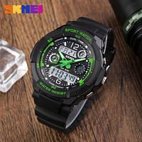 • Гарантия! Skmei(Скмей) 0931 S-SHOCK  Green      Cпортивные мужские часы !