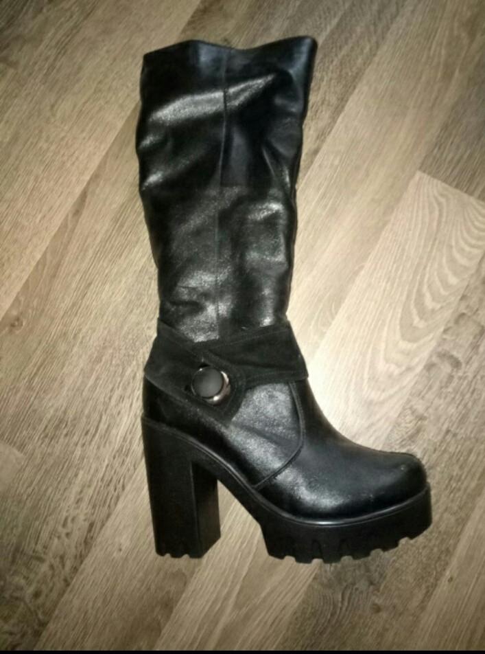 cb9d6bc59d23e2 Зимові шкіряні чоботи, цена 1 150 грн., купить — Prom.ua (ID#797168648)