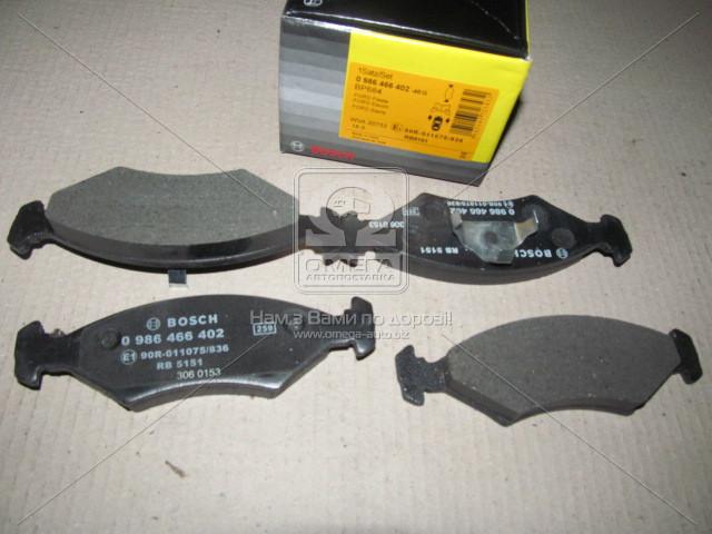 Торм колодки дисковые, Bosch 0 986 466 402