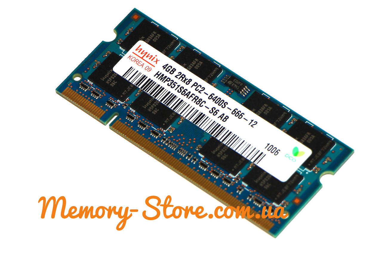 Оперативная память для ноутбука Hynix DDR2 4Gb sodimm PC2-6400s 800MHz