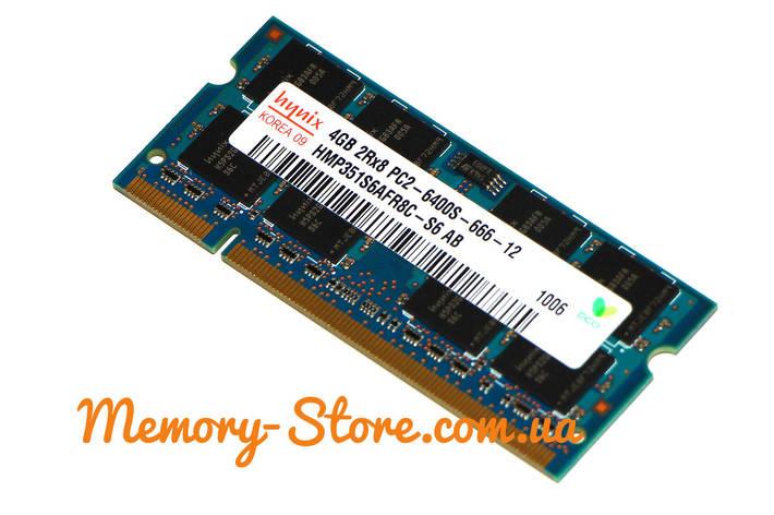 Оперативная память для ноутбука Hynix DDR2 4Gb sodimm PC2-6400s 800MHz, фото 2