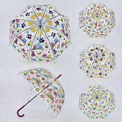 Зонт детский 80см, 4 вида, в пак.(60шт)