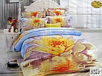 Комплект постельного белья  ELWAY сатин 3D 323