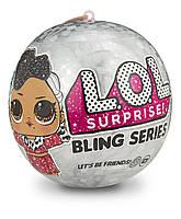 Кукла Лол Сюрприз Новогодний шарик ЛОЛ L.O.L. Surprise! Bling Dolls Holiday Series Surprise