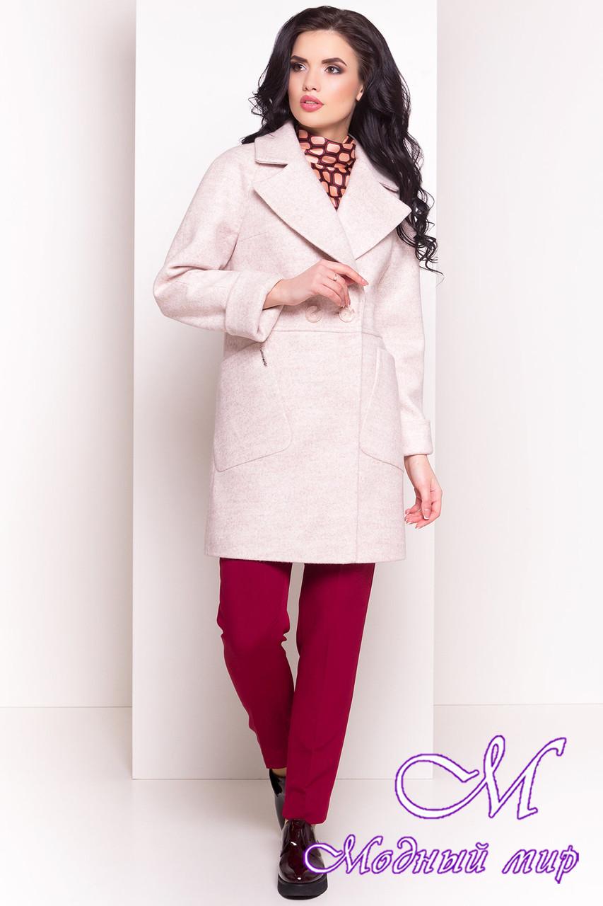 Бежевое женское пальто весна-осень (р. S, M, L) арт. Модика 4552 - 33841