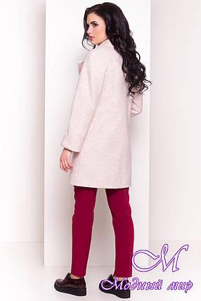 Бежевое женское пальто весна-осень (р. S, M, L) арт. Модика 4552 - 33841, фото 2