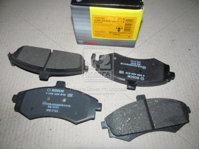 Торм колодки дисковые, Bosch 0 986 424 810