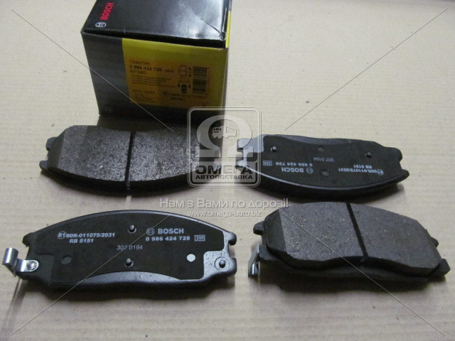 Торм колодки дисковые, Bosch 0 986 424 729