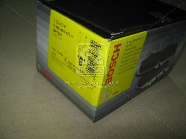 Колодка торм. FORD TRANSIT передн., Bosch 0 986 494 170