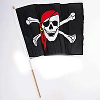 "Флаг ""Пират"" с древком"