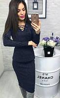 Костюм женский с кожаными вставками 009/04, фото 1