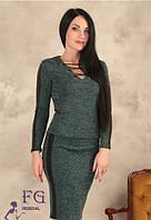 Костюм женский с кожаными вставками 009/03, фото 1
