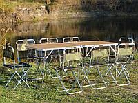 """Мебель для пикника """"Кемпинг O2+8"""". (2 стола с чехлами +8 стульев).1400 х 500 мм. Складная мебель для кемпинга"""