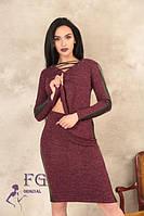 Костюм женский с кожаными вставками 009/02, фото 1